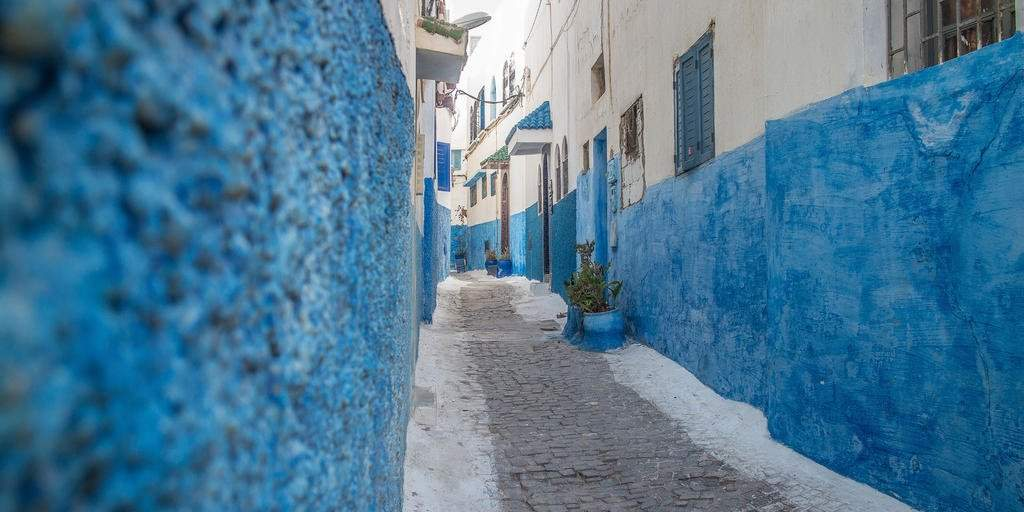 the streets in the Kasbah