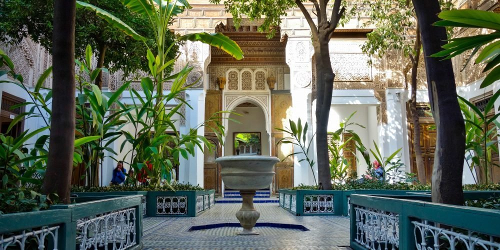 Bahia Palace is a place to see in Marrakech with a diverse decoration