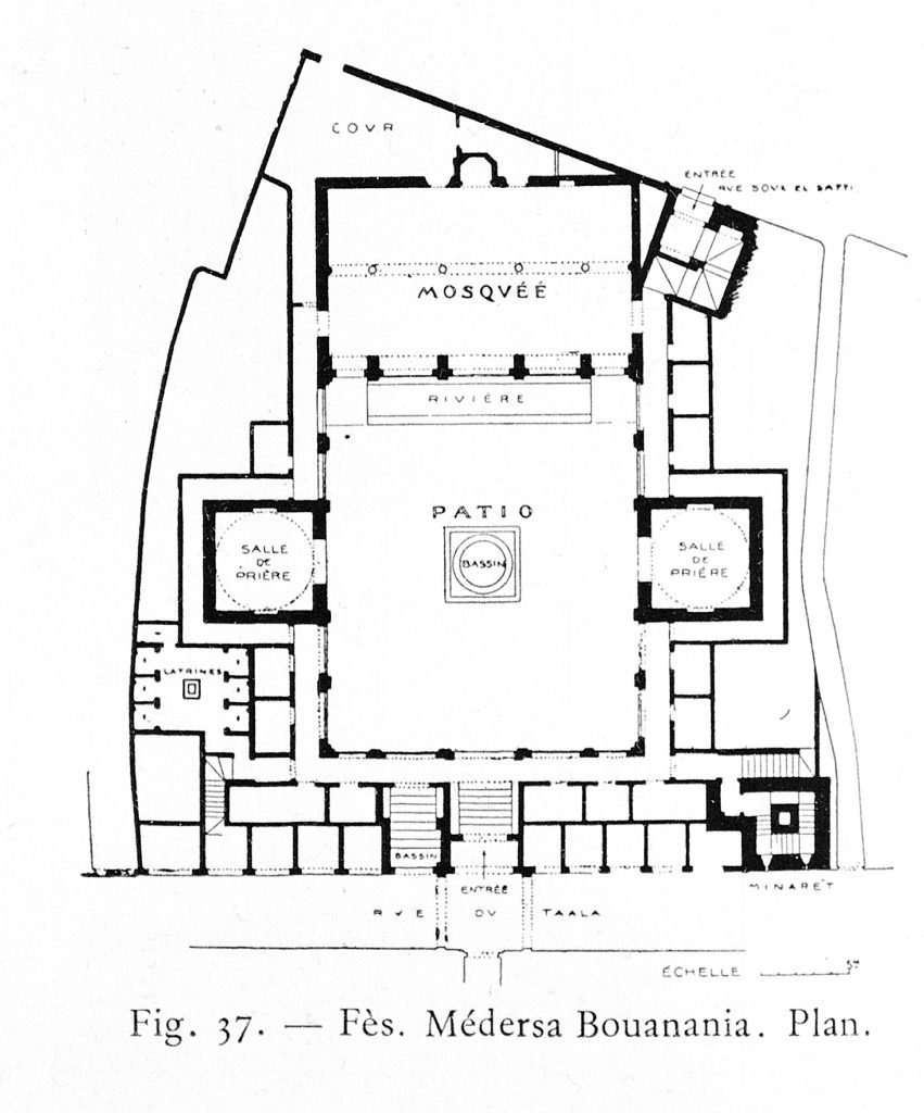 Plans of the Madrasa of Bou Inania in Fez