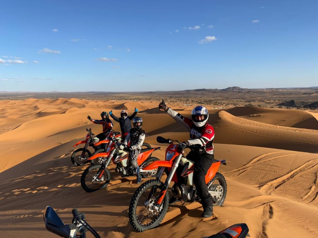 Riding Through The Dunes On A Motorbike