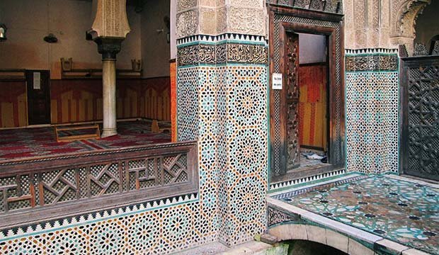 bridge in the Madrasa of Bou Inania in Fez