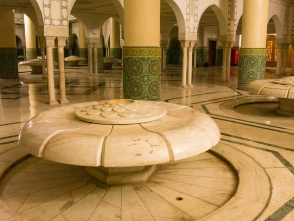 Ablution fountain in the Great Hassan II Mosque