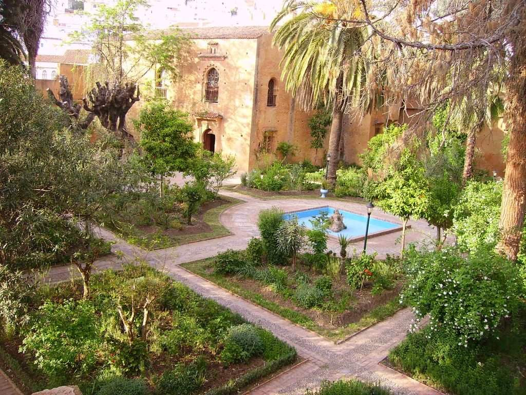 From the towers you can admire the garden of the Kasbah of Chefchaouen