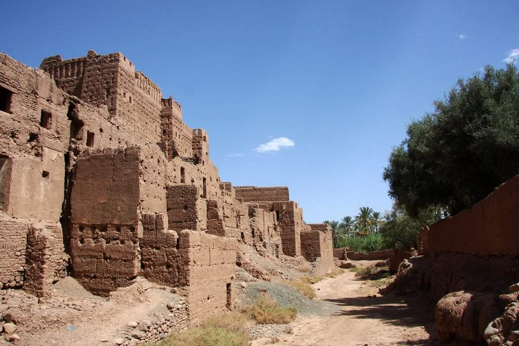 The Tamegroute ksar or Tamegroute kasbah is buried