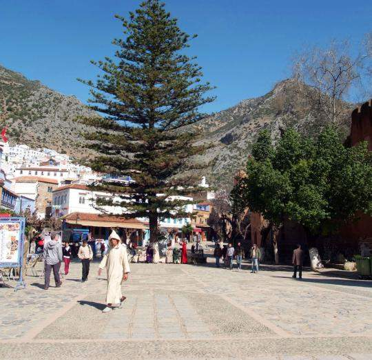 To access the Kasbah of Chefchaouen, you have to do it from the Utta el Hamman square